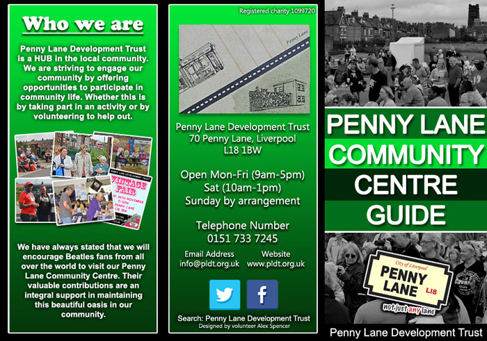 Penny Lane Community Centre Guide Outer Leaflet